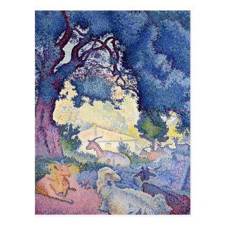 Henri-Edmond Cross- Landscape with Goats Postcard