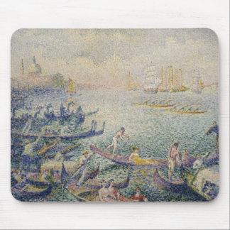 Henri-Edmond Cross - Regatta in Venice Mouse Pad