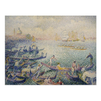 Henri-Edmond Cross - Regatta in Venice Postcard
