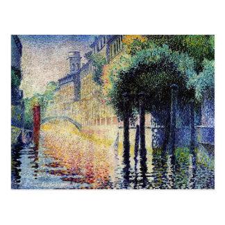 Henri-Edmond Cross- Rio San Trovaso, Venice Postcard