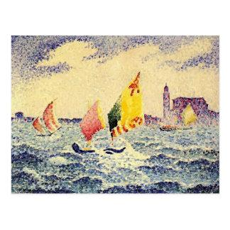 Henri-Edmond Cross- Sailboats near Chicago Postcard