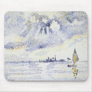 Henri Edmond Cross - Sunset on the Lagoon, Venice Mouse Pad