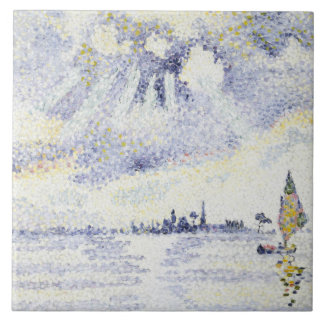 Henri Edmond Cross - Sunset on the Lagoon, Venice Tile