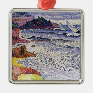Henri-Edmond Cross- The Choppy Sea Christmas Tree Ornaments