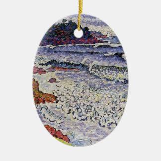 Henri-Edmond Cross- The Choppy Sea Ornament