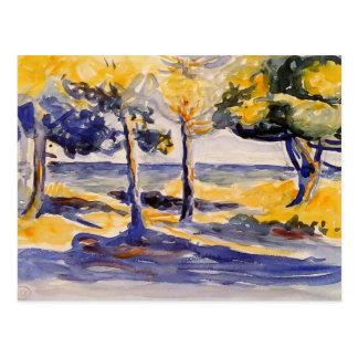 Henri-Edmond Cross: Trees by the Sea Postcard