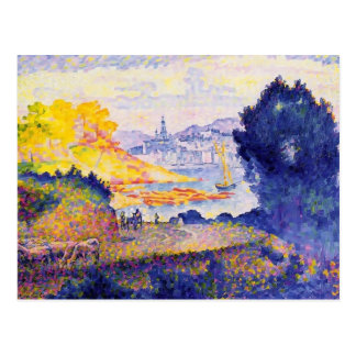 Henri-Edmond Cross- View of Menton Postcard