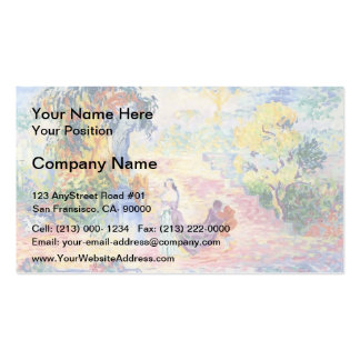 Henri-Edmond Cross- Woman in the Park Double-Sided Standard Business Cards (Pack Of 100)