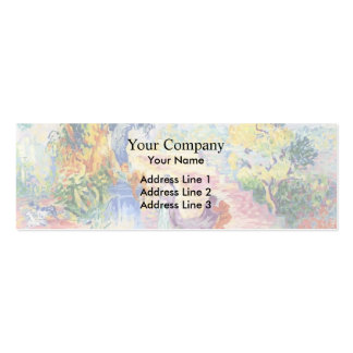 Henri-Edmond Cross- Woman in the Park Double-Sided Mini Business Cards (Pack Of 20)