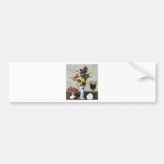 Henri Fantin-Latour Betrothal Still Life Bumper Sticker