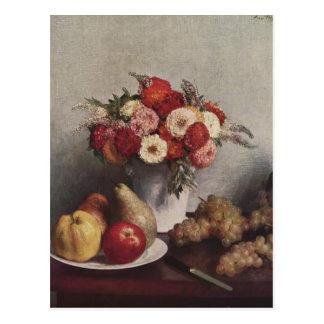 Henri Fantin-Latour- Flowers and Fruit Postcard