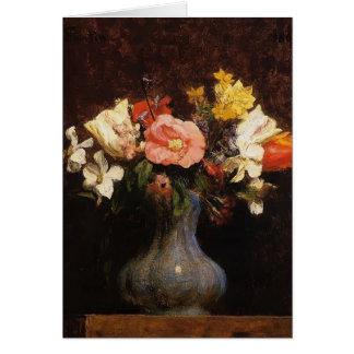 Henri Fantin-Latour- Flowers Camelias and Tulips Greeting Card