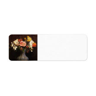 Henri Fantin-Latour- Flowers Camelias and Tulips Custom Return Address Label