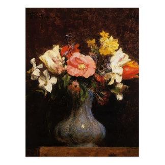 Henri Fantin-Latour- Flowers Camelias and Tulips Post Card