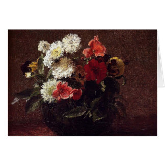 Henri Fantin-Latour- Flowers In A Clay Pot Greeting Card
