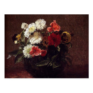 Henri Fantin-Latour- Flowers In A Clay Pot Post Cards