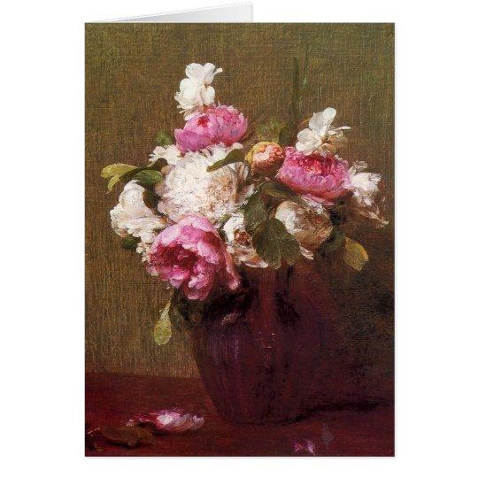 Henri Fantin-Latour Peonies and Roses Card