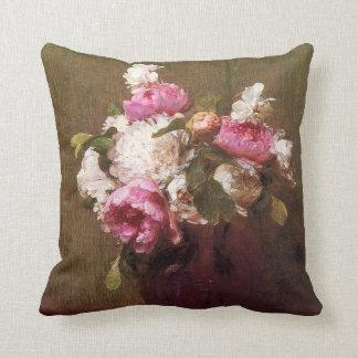Henri Fantin-Latour Peonies and Roses Pillow