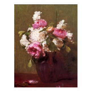Henri Fantin-Latour Peonies and Roses Postcard