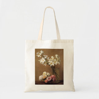 Henri Fantin-Latour Roses and Lilies Budget Tote Bag
