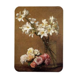 Henri Fantin-Latour Roses and Lilies Magnet