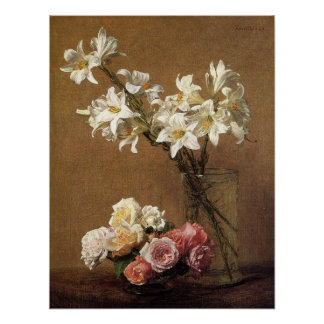 Henri Fantin-Latour Roses and Lilies Poster