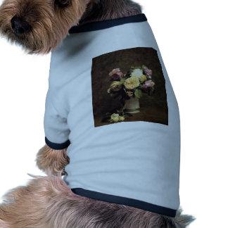 Henri Fantin-Latour-Roses in a White Porcelin Vase Dog Tee Shirt