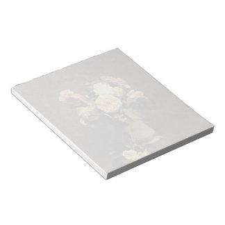 Henri Fantin-Latour-Roses in a White Porcelin Vase Memo Note Pads