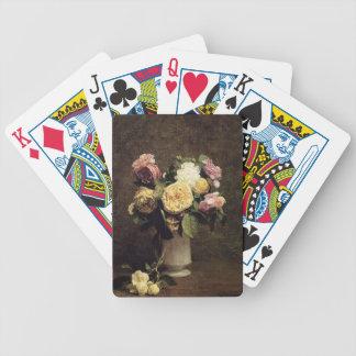 Henri Fantin-Latour-Roses in a White Porcelin Vase Bicycle Poker Cards