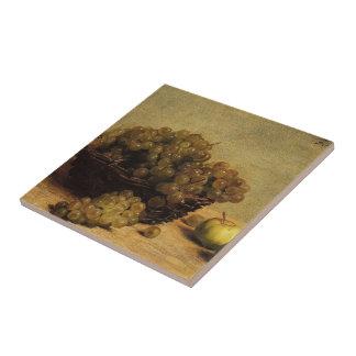 Henri Fantin-Latour- Still Life Apples and Grapes Ceramic Tiles