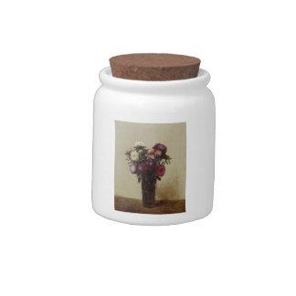 Henri Fantin-Latour-Vase of Flowers Queens Daisies Candy Jar