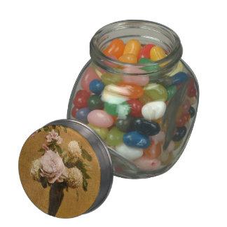 Henri Fantin-Latour- Vase of Peonies and Snowballs Glass Jar