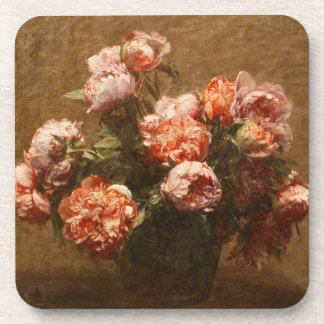 Henri Fantin-Latour Vase of Peonies Coasters