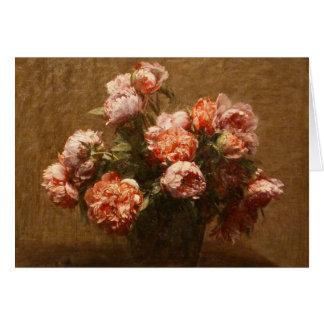 Henri Fantin-Latour Vase of Peonies Note Card