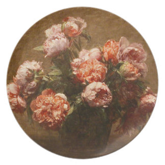Henri Fantin-Latour Vase of Peonies Plate