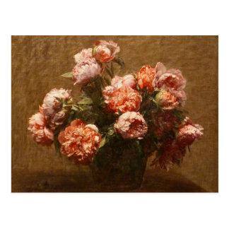 Henri Fantin-Latour Vase of Peonies Postcard