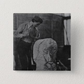 Henri Gaudier-Brzeska, c.1910 Pinback Button
