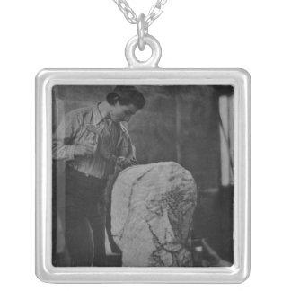 Henri Gaudier-Brzeska, c.1910 Silver Plated Necklace