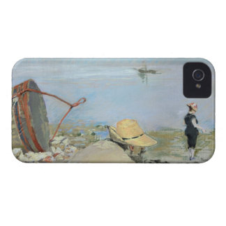 Henri Guerard Relaxing on the Beach (pastel on can iPhone 4 Case