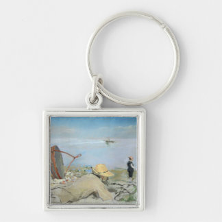Henri Guerard Relaxing on the Beach (pastel on can Keychains