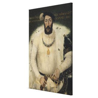 Henri II , King of France, 1555 Canvas Print