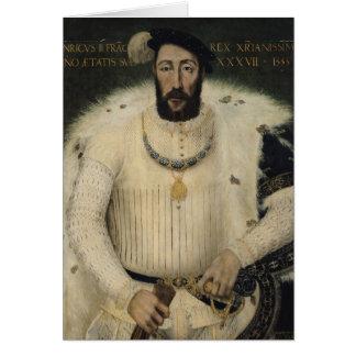 Henri II , King of France, 1555 Card