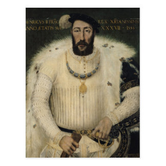Henri II , King of France, 1555 Postcard