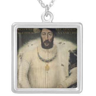 Henri II , King of France, 1555 Silver Plated Necklace