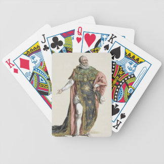 Henri IV (1553-1610) King of France, from 'Receuil Bicycle Playing Cards