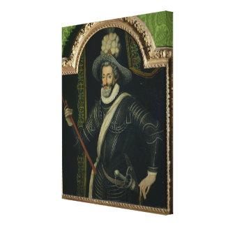 Henri IV  King of France and Navarre, c.1595 Canvas Print