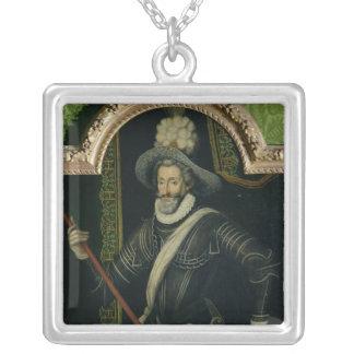 Henri IV  King of France and Navarre, c.1595 Square Pendant Necklace
