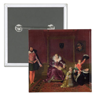 Henri IV  King of France and Navarre Playing 2 Inch Square Button