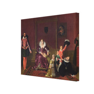 Henri IV  King of France and Navarre Playing Canvas Print