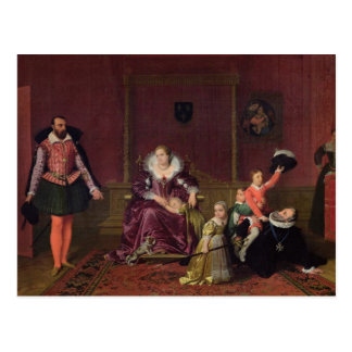 Henri IV  King of France and Navarre Playing Postcard